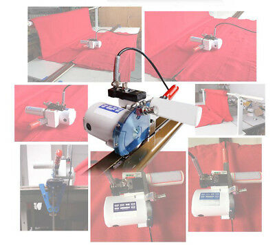 """Fabric Cloth Cutter End w/86.6""""(220cm) Rack and Digital Counter Delay Function"""