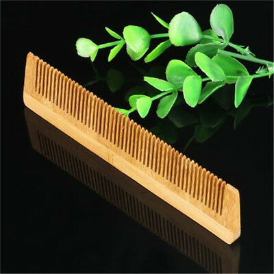 Wooden Comb Bamboo Natural Hair Care Vent Brush SPA Healthy Salon Massage BS