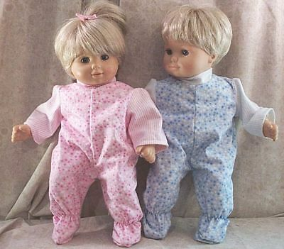"""Doll Clothes Baby Made 2Fit American Girl Boy 15"""" inch Twins Pajamas Bitty Stars"""