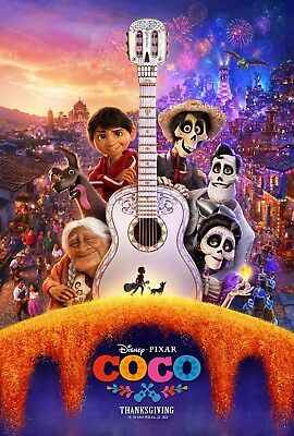 Coco - original DS movie poster - 27x40 D/S 2017 Advance B - PIXAR
