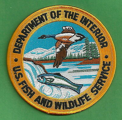 Department Of The Interior U.s. Fish & Wildlife Service Police Patch