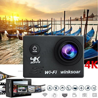 4K WiFi Ultra HD 1080p 16MP 2.0'' Underwater Sports Action Camera Camcorder Cam