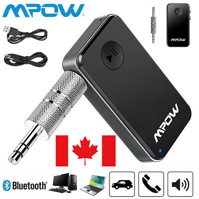 Mpow 3.5mm Car Kit Wireless Bluetooth 4.1 Receiver Stereo Audio Music Adapter