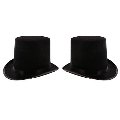 2pcs unisex Black Halloween Magician Magic Hat Jazz cappelli per Cosplay