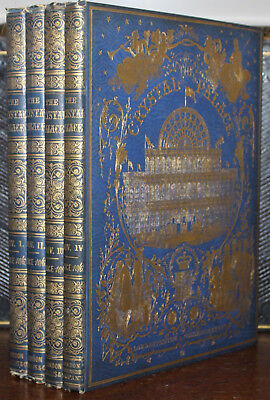 1850's Tallis's History & Description of the Crystal Palace 4 Vols Incomplete