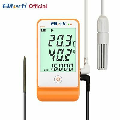 Elitech GSP-6 Temperature and Humidity Data Logger  Big Multifuntion LCD screen