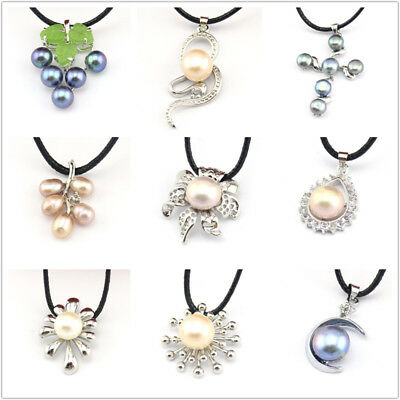 Genuine Natural Freshwater Pearl Charm Pendants For Jewelry Necklace