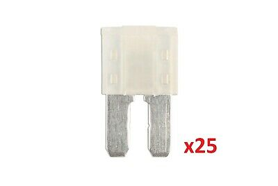 25Amp Led Micro 2 Blade Fuse Pk 25 Connect 37183