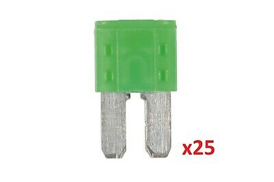 Connect 37184 30amp LED Micro 2 Blade Fuse Pk 25