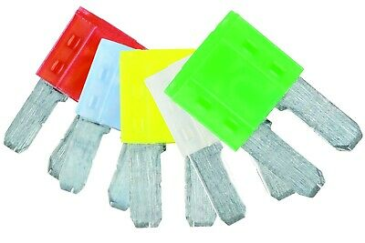 Led Mini Blade Fuse Assorted Blister 10/15/20/25/30Amp 5 Pc Connect 37146
