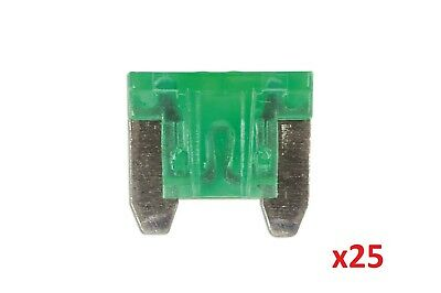 Low Profile Mini Blade Fuse 30-Amp Green Pack 25 Connect 30444