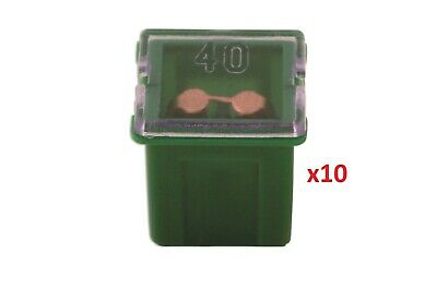 Connect 30485 J Type Auto Low Profile Fuse Green 40-amp Pk 10