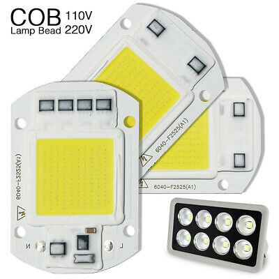 20W 30W 50W 100W Floodlight COB Chip High Power LED Lamp Bulb Module 220V/110V