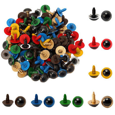 100pcs 8mm Plastic Safety Eyes For Bear Doll Animal Puppet Craft DIY Toy