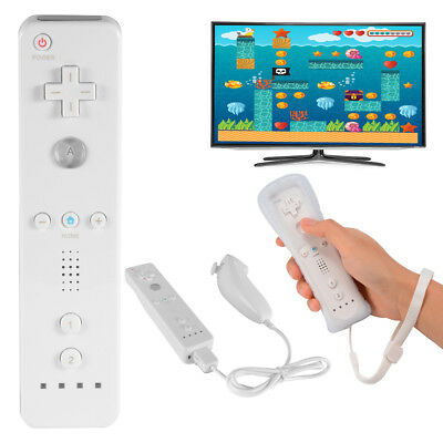 White 2in1 Wii Nunchuck and Remote Controller Set + Strap per Nintendo Wii AC649