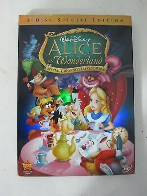 Disney Alice in Wonderland DVD, 2010, 2-Disc Set Un-Anniversary Special Edition