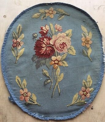 Beautiful 19th C. French Wool Hand Woven Aubusson Fabric  (2467)