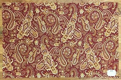 Beautiful 19th Century French Cotton Paisley Fabric  (2142 )