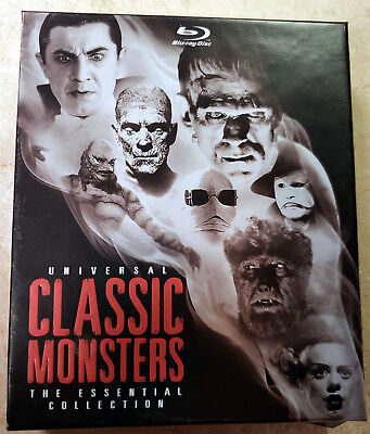Universal Classic Monsters: The Essential Collection  BR (Blu-ray, 8-disc set)