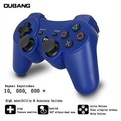NEW Wireless Controller For PS3 Bluetooth PS3 Games Remote  With Cable  (BLU)