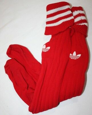 Vintage Adidas Soccer Socks Red White Nylon Tube Knee USA
