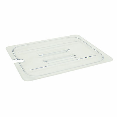1 PC POLYCARBONATE Cover Lid For Food Pan, Clear Half Size Slotted SP7200C