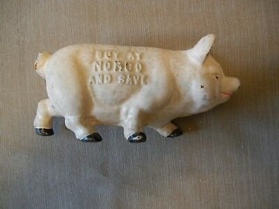 Cast Iron Norco Foundry, Pottstown, PA, Vintage Pig Coin Bank - Buy At Norco