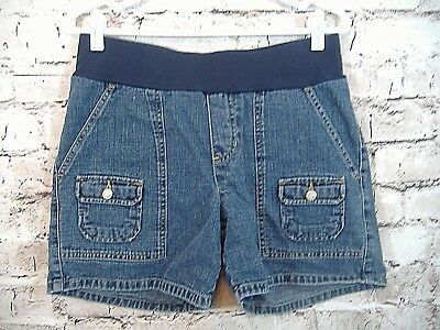 Old Navy Womens Maternity Shorts Size S Denim Front Button Pockets   (w-282)