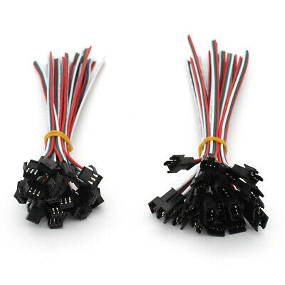 Wholesale 2/3/4/5PIN JST Connector Male&Female Wire fr Single/RGB/RGBW LED Strip