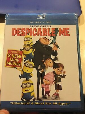 Despicable Me (Blu-ray/DVD, 2010) Brand New Sealed Free Shipping!