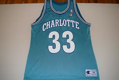 ... promo code for alonzo mourning charlotte hornets jersey size 44 usa  made champion teal 570e9 f7398 1fab20d59