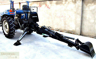 BACKHOE TRACTOR ATTACHMENT BH7600 Bucket PTO 3 Pt Link - Excavator Hydraulic New