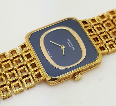 Fine & Rare Vintage 18K Gold Patek Philippe Art Deco Ladies Watch Ref 4183-1