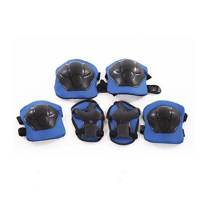 Kids Skating Skateboard Roller Knee Wrist Elbow Guard Pads Protector Set Blue PQ