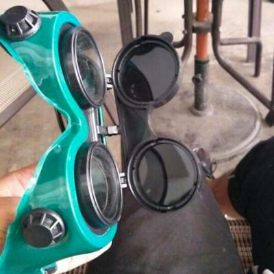 Flip Up Welding Safety Goggles Protect Solder Welder Glasses Double Lense