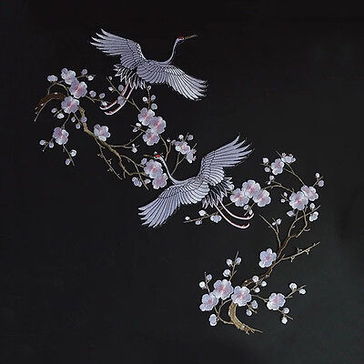 Red-crowned Crane DIY Embroidered Sew on Patch Clothes Fabric Sticker