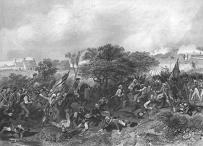 American Revolution BATTLE OF MONMOUTH New Jersey ~ Old 1858 Art Print Engraving