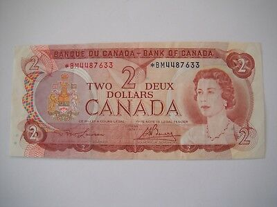 1974 Bank of Canada Ottawa Canadian $2 Two Dollar Bill Note *BM4487633