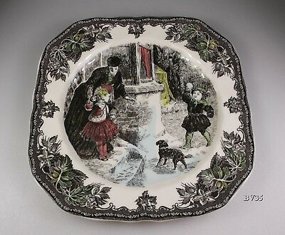 Johnson Brothers Friendly Village Christmas Square Salad Plate Snowball