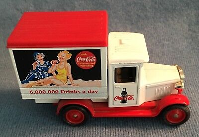 Coca Cola Die-Cast Lledo White & Red Delivery Truck Promo Model England