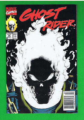 GHOST RIDER #15 (1990 Marvel) GLOW IN THE DARK COVER Very Fine 1st printing