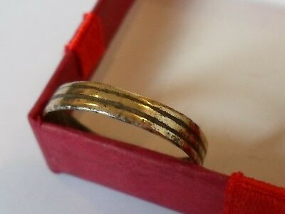 X-MAS SALE,DETECTOR FIND 13th-15th CEN MEDIEVAL WEDDING RING, (P size) .POLISHED