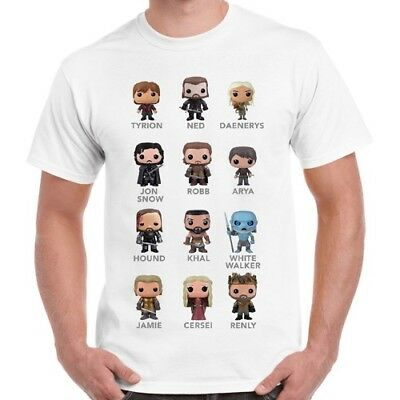 Game Of Thrones Mini All Character Cool Gift Vintage Retro T Shirt 2286