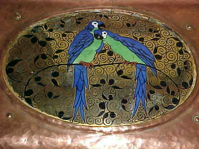 Viennese Secession Arts Crafts Copper Enamel Box Gustav Klimt Wiener Werkstatte