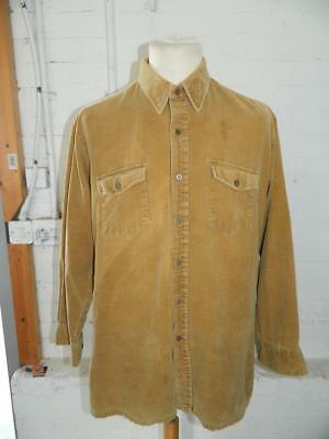 Vintage 1970/80s Windbreaker Brown Corduroy Shirt With Chest Pockets - L