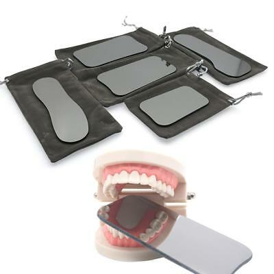 5 x Dental Intraoral Orthodontic Photographic Glass Mirror 2-sided Rhodium New