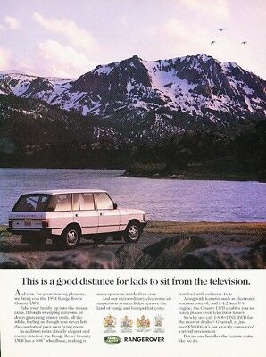 1994 Range Rover County LWB Original Advertisement Print Art Car Ad K13