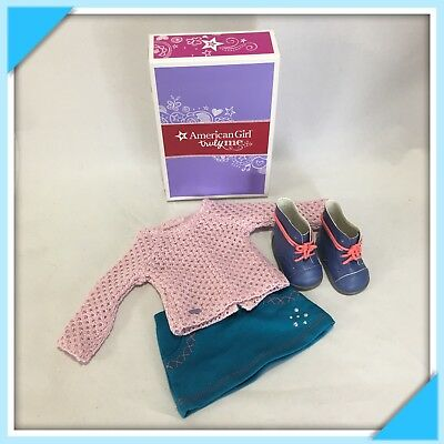 "American Girl Truly Me Sparkle Sweater Outfit 18"" Doll Retired NEW In Box"