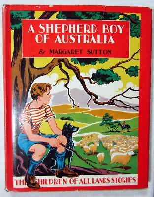 "1941 MARGARET SUTTON – ""A Shepherd Boy of Australia"" – Original Dust Jacket"