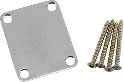 Genuine Fender ROAD WORN Chrome Strat/Tele Neck Plate with Mounting Hardware